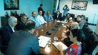 Vereadores e Prefeito Municipal participam de audiência com o Governador.